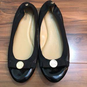 Michael Kors Ballet Flat Gold Accent Leather